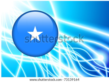Somalia Flag Button on Abstract Light Background Original Illustration