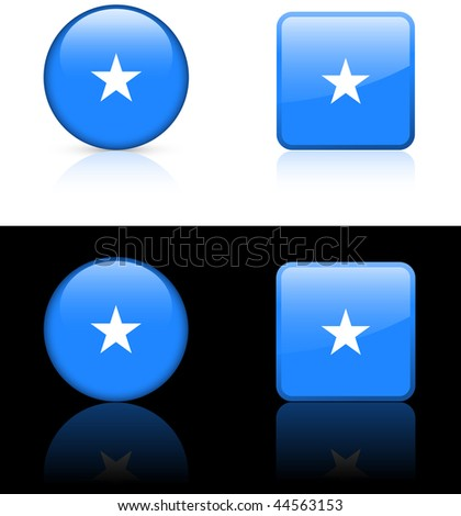 somalia Flag Buttons on White and Black Background Original Vector Illustration AI8 Compatible - stock vector