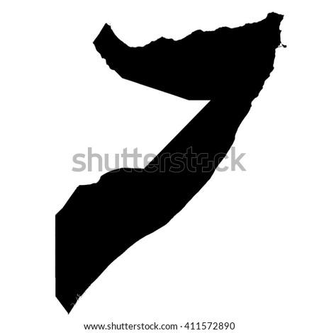 Somalia map vector, Somalia vector, isolated Somalia - stock vector