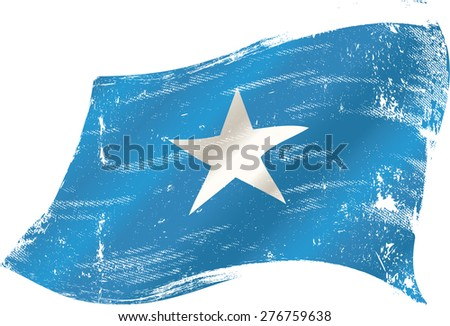Somalian grunge flag. A grunge flag of Somalia for you in the wind - stock vector