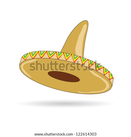sombrero hat from mexico art vector illustration