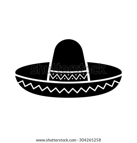 Sombrero / Mexican hat flat icon for apps and websites - stock vector