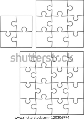 Some basic jigsaw shapes