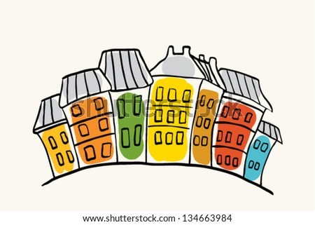 some houses - stock vector