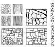 Some wood and wall examples of textures - stock vector