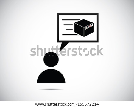 Someone Ordered Something - stock vector