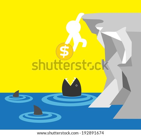 sometimes you have to choose health or making more money. - stock vector