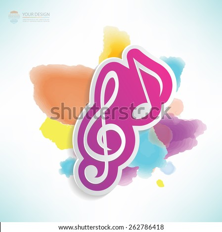 Song design,water colour design,clean vector