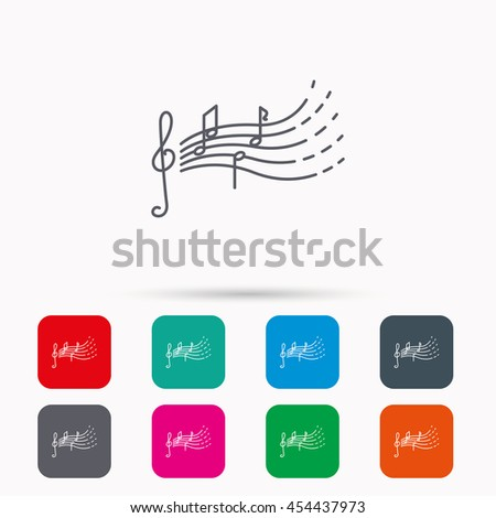 Songs Kids Icon Musical Notes Melody Stock Vector 454437973
