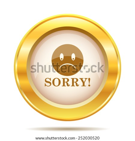 Sorry icon. Internet button on white background. EPS10 vector.  - stock vector