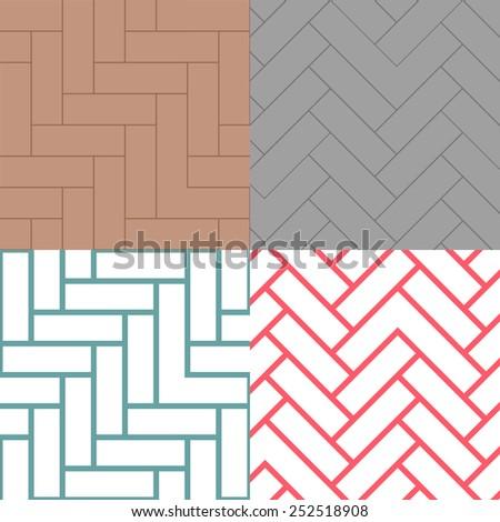 Sort of rectangle brick and line pattern, Street brick floor pattern. - stock vector