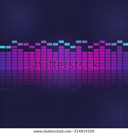 sound and audio waves equalizer,vector sound wave