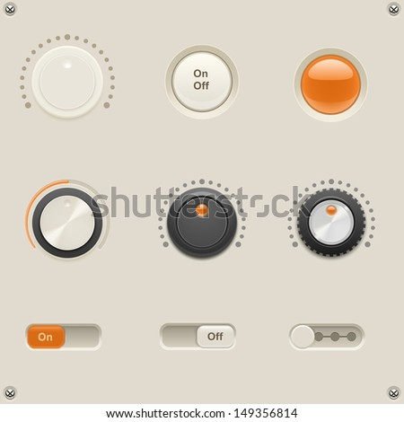 sound dials vector - stock vector