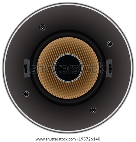 Sound dynamic loudspeaker for a modern stereo system. Vector illustration. - stock vector