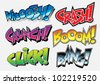 Sound Effects: Comic Book / Graffiti Style - stock vector