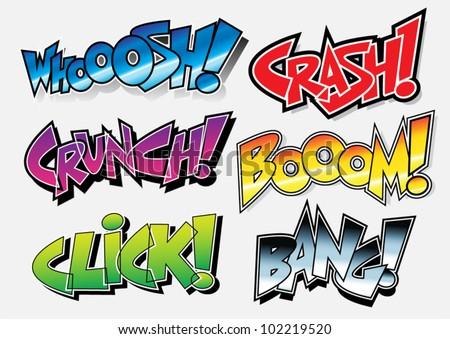 Sound Effects: Comic Book / Graffiti Style - stock vector