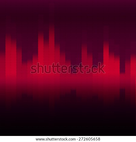 Sound equalizer for your design - stock vector