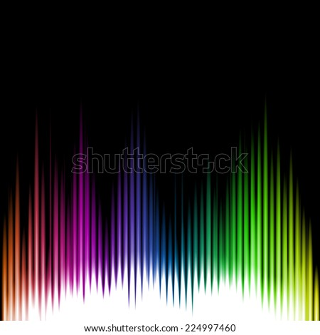 Sound Equalizer Wave Abstract Background. Vector illustration - stock vector