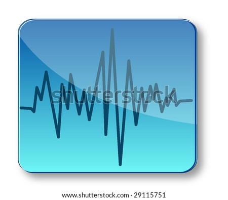 sound graph illustration - stock vector