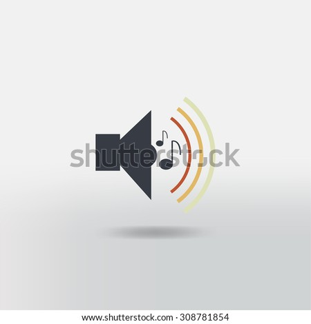 sound icon  - stock vector