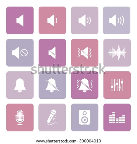 Sound icon. Music and sound icon. Vector. - stock vector