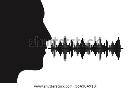 Sound of voice - stock vector