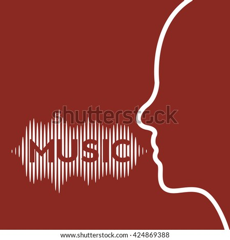 Sound of voice, music - stock vector
