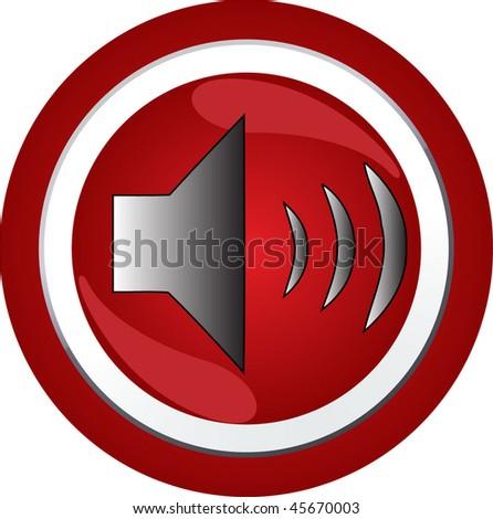 sound sign icon button - stock vector