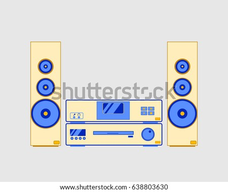 sound system clipart. sound system, music center, vector illustration system clipart