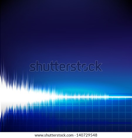 Sound wave abstract background - stock vector