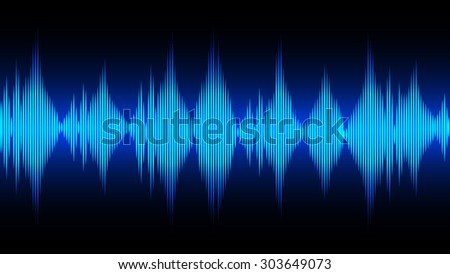 Sound wave abstract background for technology concept,vector illustration