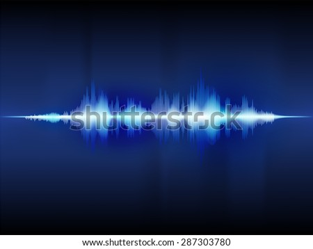 sound wave abstract background vector design
