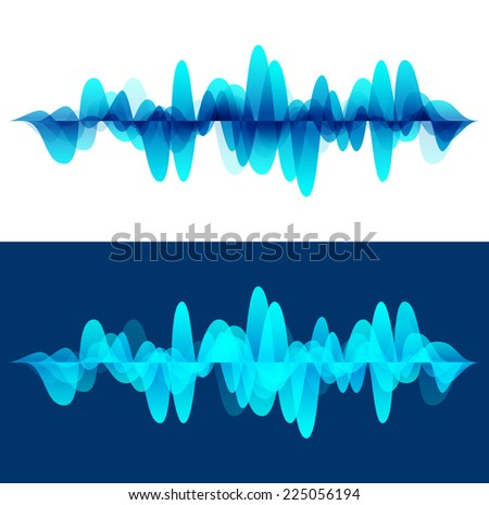 Sound wave background. Vector illustration for club, radio, party, concerts or the audio technology advertising background. - stock vector