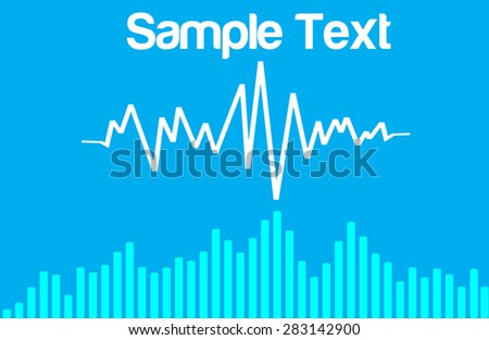 sound wave blue abstract vector background - stock vector