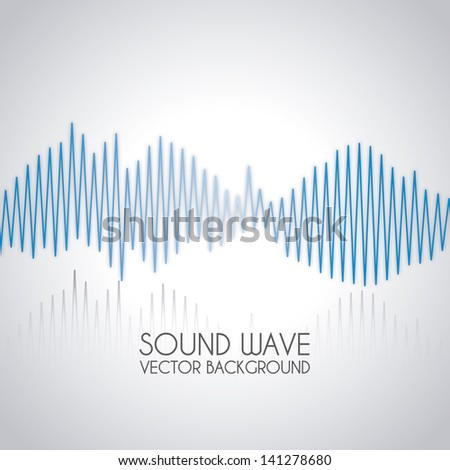 sound wave design over gray background vector illustration - stock vector