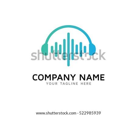 sound wave logo design template stock vector 522985939 - shutterstock