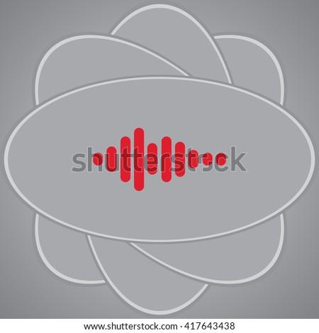 Sound wave music vector icon - stock vector
