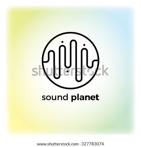 Sound wave symbol logo. Detailed stylish modern flat vector illustration and design element. - stock vector
