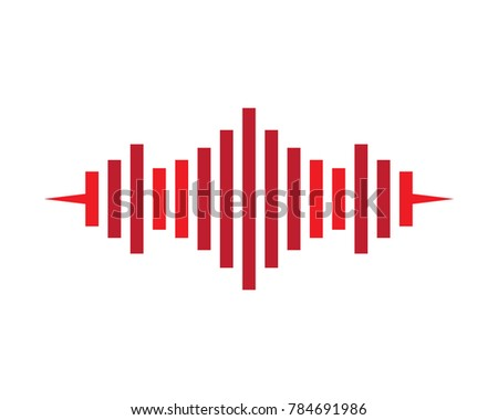 sound wave vector icon stock vector 784691986 shutterstock rh shutterstock com sound wave vector black and white sound wave vector ai