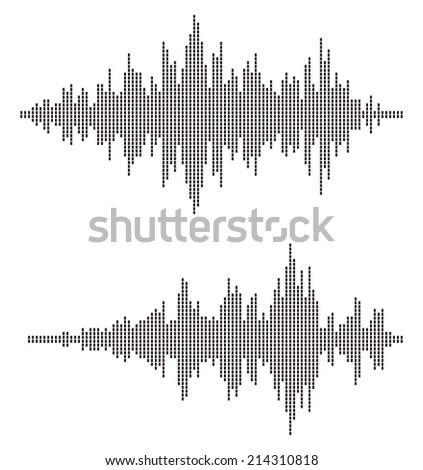 Sound Waves. Abstract wave background .  - stock vector