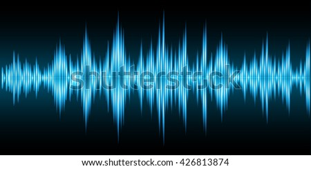 Sound waves oscillating dark blue light, Abstract technology background. abstract wave, water wave, wave background, vector wave, digital wave