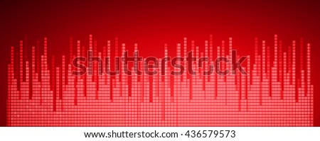 Sound waves oscillating dark red light, Wave Abstract technology background. water wave. Vector