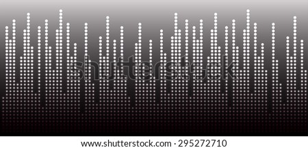 Sound waves oscillating glow black light, Abstract technology background. Vector.