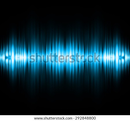 Sound waves oscillating glow blue light, Abstract technology background. Vector. infographics