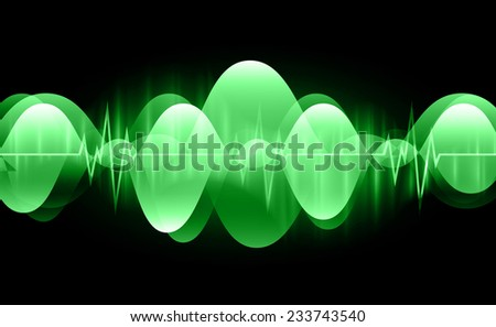 Sound waves oscillating glow blue light, Abstract technology background. Vector. Light Abstract Technology background for computer graphic website and internet.