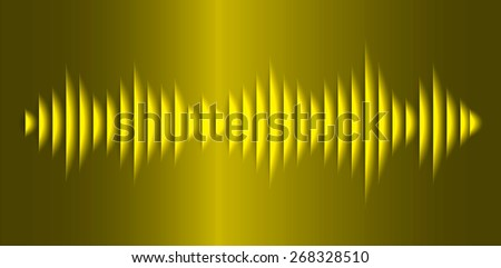 Sound waves oscillating glow yellow light, Abstract technology background. Vector.
