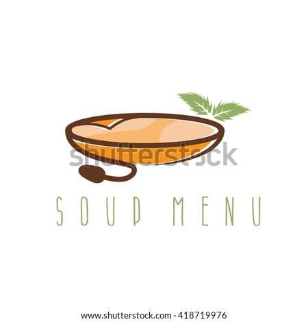 Soup Menu Vector Design Template Leaf Stock Vector 418719976 ...
