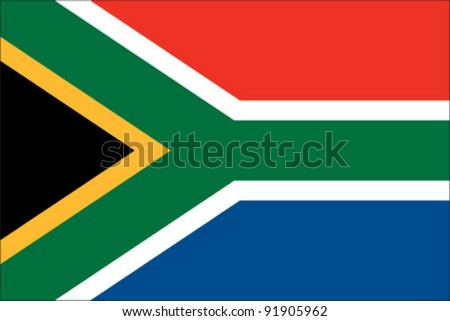 South Africa Flag - stock vector