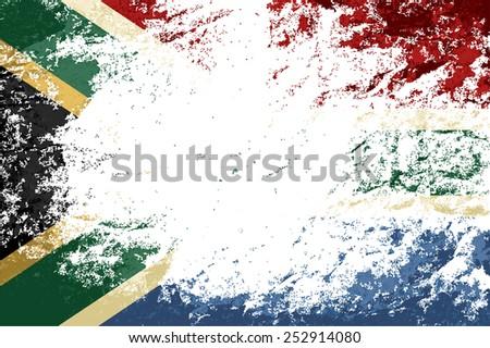 South Africa flag Grunge background. Vector illustration Eps 8. - stock vector