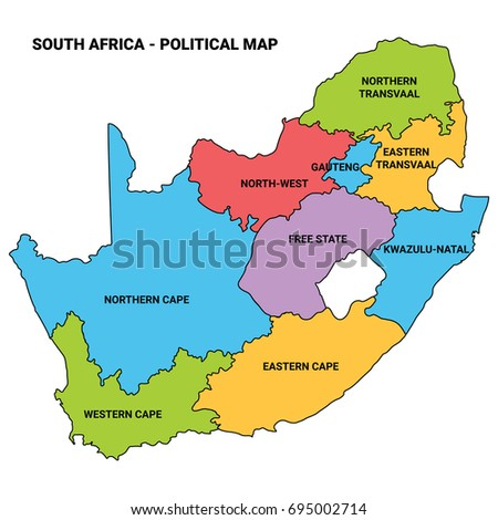 South Africa - Illustration map vector